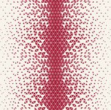 Abstracet red geometric halftone triangle trippy seamless pattern. Background vector illustration