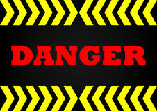 Abstrack background danger sign. Danger sign on dark metal background Stock Images
