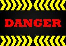 Abstrack background danger sign. Danger sign on dark metal background vector illustration