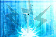 Abstrack blue backgrounds with inconspicuous shine, windmills Royalty Free Stock Photos