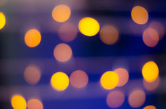 Abstrack bokeh on yellow blue background Royalty Free Stock Image