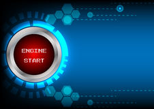 Abstrack button engine start technology Stock Images