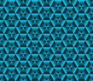 Abstrack color background, blue triangles Stock Images