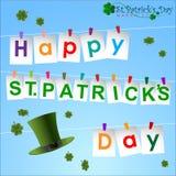 Abstrack del giorno di StPatrick Fotografia Stock Libera da Diritti