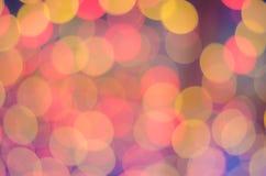 Abstrack färgrik stor bakgrund med bokehljus Arkivfoto