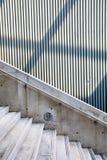 Abstrack foto, sidoviwe av trappuppgången Arkivfoton