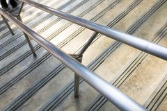 Abstrack foto, sidoviwe av trappuppgången arkivbilder