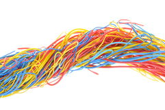 Abstrack global connections. Colorful cables isolated on white background Royalty Free Stock Photo