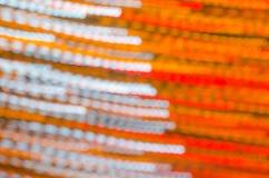 Abstrack lång exponering med bokehljus Arkivbild