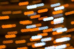 Abstrack lång exponering med bokehljus Fotografering för Bildbyråer