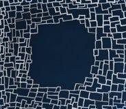 Abstrack som drawning på den blåa svart tavla, bakgrundsram Arkivbilder