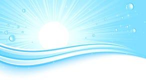 Abstrackt Blue Sunburst Stock Images