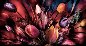 Abstrackt de los tulipanes Fotografía de archivo libre de regalías