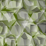 Abstrackt - illusration. The background of abstract geometry of irregular shape in shades of green Stock Photos