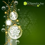 Abstrackt of St. Patrick`s Day Background. Background or Card Template. Vector and Illustration, EPS 10 royalty free illustration