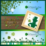 Abstrackt of St. Patrick`s Day Background. Card or Banner Template Design. Vector and Illustration, EPS 10 stock illustration