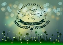 Abstrackt of St.Patrick`s Day Background. Stock Photos
