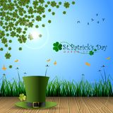 Abstrackt of St.Patrick`s Day Background. Background or Card Template. Vector and Illustration, EPS 10 royalty free illustration