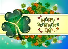 Abstrackt of St.Patrick`s Day Background. Card or Banner Template Design. Vector and Illustration, EPS 10 vector illustration