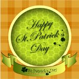 Abstrackt of St.Patrick`s Day Background. Card or Banner Template Design. Vector and Illustration, EPS 10 stock illustration