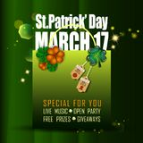 Abstrackt of St.Patrick`s Day Background. Card or Banner Template Design. Vector and Illustration, EPS 10 royalty free illustration