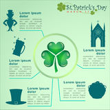 Abstrackt of St.Patrick's Day. Royalty Free Stock Images