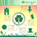 Abstrackt of St.Patrick`s Day Background. Abstrackt of St.Patrick`s Day with St.Patrick`s Day Icon Inforgraphic, Vector and Illustration, EPS 10 royalty free illustration