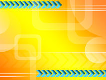 Abstract. Yellow background  with arrows and square Royalty Free Stock Images