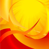 Abstract. Orange background with sun sunshine, red Stock Image
