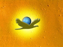 Abstract. Bird and planet Royalty Free Stock Photos