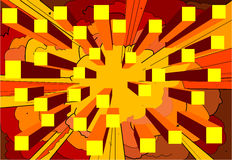 Abstract 2. Abstract explosion vector illustration
