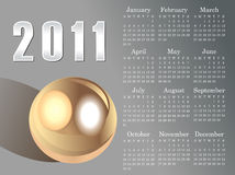 Abstract 2011 calendar. Vector illustration Stock Photos