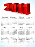 Abstract 2011 calendar. Vector illustration Stock Images