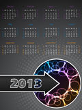 Abstract 2013 calendar with plasma effect Stock Images