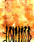 Abstract. Artistic background grunge fire and scratches Stock Images