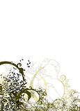 Abstract. Background grunge style floral element Stock Images