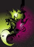 Abstract. Illustration vector work with a lot spirals Royalty Free Stock Images