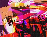 Abstract. Hi-Res Abstract Forms Painting vector illustration