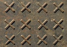 Abstract. Shape from a steel plate floor cover royalty free stock images