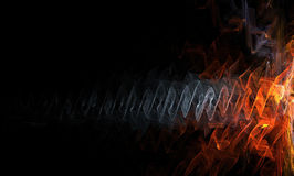 Abstract. Fire or sound wave design Stock Photos