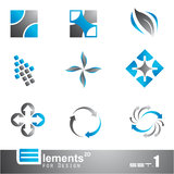 Abstract 2D Elements - Set 1 Stock Images