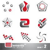 Abstract 2D Elements - Set 2 Stock Photography