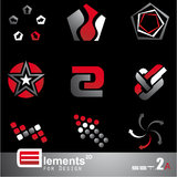 Abstract 2D Elements - Set 2a Stock Photography