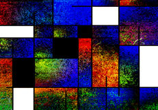 Abstract. Rectangles and splatters form this abstract Royalty Free Stock Photo