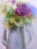 Almost abstract. Blur of pastel flowers royalty free stock photo