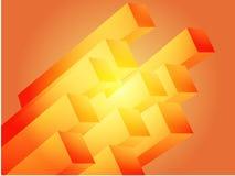 Abstract 3d. Geometric rectangular cluster shape illustration Royalty Free Stock Photos