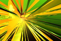Abstract 3d. Orange and green abstract 3d Stock Illustration