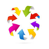 Abstract 3d Arrow Icons Stock Image