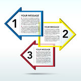 Abstract 3D arrow speech bubble background. EPS10 Royalty Free Stock Images