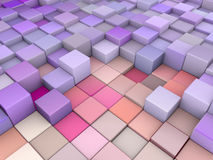 Abstract 3d backdrop in  pink purple. Abstract 3d cubes backdrop in  pink purple Royalty Free Stock Photography